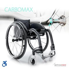 To αμαξίδιο #Carbomax ♿️ είναι κατασκευασμένο με σκελετό εξ ολοκλήρου από ανθρακονήματα με βάρος από 7,3 kg. Σχεδιασμός, ελαφρότητα και ακαμψία στο υψηλότερο επίπεδο, με δυνατότητα για επαρκείς και απλές ρυθμίσεις.  Το έμπειρο προσωπικό του τμήματος αποκατάστασης είναι στη διάθεσή σας, ώστε να σας βοηθήσει να επιλέξετε το κατάλληλο αναπηρικό αμαξίδιο ή αξεσουάρ, σύμφωνα με τις ανάγκες σας! ☎️+30 2310 818 963 🕋Βασ. Όλγας 120, Θεσσαλονίκη #arthromed #progeo #αμαξίδια #wheelchair #ανθρακονήματα Wheelchairs, Gym Equipment, Bicycle, Vehicles, Sports, Hs Sports, Bike, Bicycle Kick, Bicycles