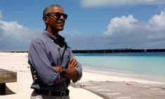 Oh my I would like to see this place. ... Obama Visits Faraway Speck Of Sand Furthering His Legacy Of Conservation
