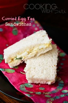 Cooking With Siri: {Simple and Easy} Curried Egg Tea Sandwiches (Tea Sandwich Recipes) Appetizer Recipes, Appetizers, Party Recipes, Sandwich Recipes, Tea Recipes, Healthy Recipes, Curried Egg Sandwich, Curry Egg Salad, World's Best Food