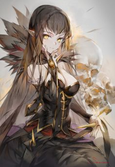 assassin_of_red_(fate/apocrypha) cleavage dress fate/apocrypha fate/grand_order fate/stay_night hong pointy_ears semiramis_(fate) Demon Manga, Art Manga, Chica Anime Manga, Manga Drawing, Manga Girl, Anime Girls, Fantasy Anime, Fantasy Girl, Assassin Of Red