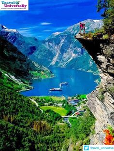#heritageplaces   Geirangerfjord  The Geirangerfjorden is a fjord in the Sunnmøre region of Møre og Romsdal county, Norway. It located entirely in Stranda Municipality. It is a 15-kilometre (9.3 mi) long branch off of the Sunnylvsfjorden, which is a branch off of the Storfjorden (Great Fjord). The small village of Geiranger is located at the end of the fjord where the Geirangelva river empties into it.  For more travel updates be connected to  Travel Universally