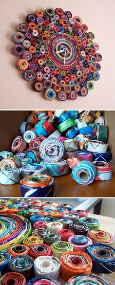 Recycled Magazine Clock upcycled crafts 13 Creative Upcycled Magazine Craft Projects That Will Inspire You Recycled Magazine Crafts, Recycled Magazines, Old Magazines, Recycled Art Projects, Upcycled Crafts, Craft Projects, Diy Crafts, Recycling Projects, Decor Crafts