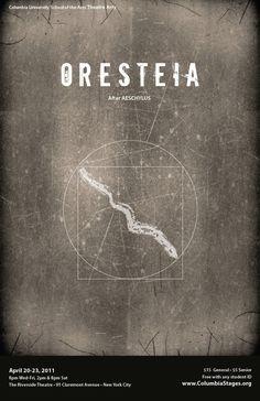 Poster | Oresteia by Jonathan Vandenberg, via Behance