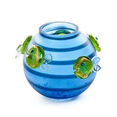 Aqua Vase: 24-03-70 in Lime Green, Hand-Blown Art Glass by Borowski Glass Studio