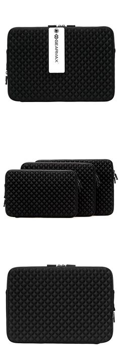 MacBook Bag 13 inch ,elecfan MacBook Bag Water-resistant Material Tablet Bag,Soft Protective Envelope Package Carrying Case Cover for All the display with 13-13.3 inch (13-13.3 inch, Black)