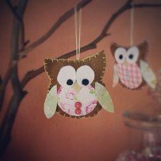 Owl #owl #handmade #crafts #feltowl #babyshower #owltheme