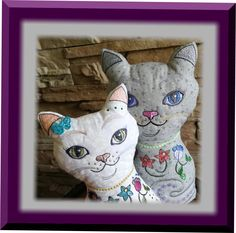 ITH Flower Power Baby Cats Baby Kitty, Baby Cats, Machine Embroidery Projects, Flower Power, Dinosaur Stuffed Animal, Toys, Flowers, Animals, Inspiration