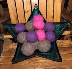 "Reusable ""Green Gnome"" Wool Dryer Balls - ETSY"