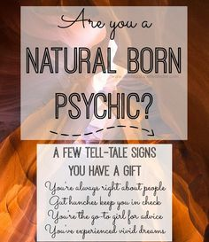 Psychic kids and psychic adults - are they born that way? Were YOU born that way? In this informative article we discuss the signs of being a natural with psychic abilities. Hey, you never know! You could be a psychic medium -