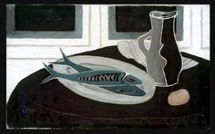 Bottle and Fish - Georges Braque, 1941