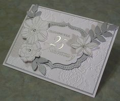 Handmade 25th Anniversary Card Stampin Up Secret by WhimsyArtCards