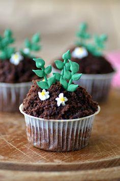 Süßkartoffel-Schoko-Cupcakes mit Schoko-Frischkäse-Frosting