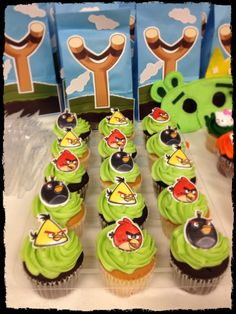 Angry Birds cup cake