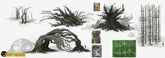 Anomaly trees, Nickolay Gatilov on ArtStation at https://www.artstation.com/artwork/Jw2XD