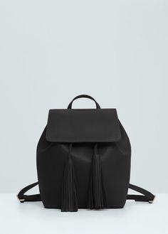 Pebbled backpack   MANGO