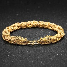 Punk Gold Color Wheat Chain Bracelet For Men Dragon Claspsnakeskin Design Length Luxury Male Bracelet Gitf Mens Gold Bracelets, Bangle Bracelets, Unique Bracelets, Necklaces, Bracelet Patterns, Bracelet Designs, Dragon Bracelet, Stone Bracelet, Beaded Bracelet