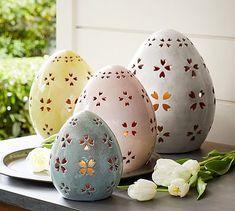 Pierced Ceramic Eggs | Pottery Barn