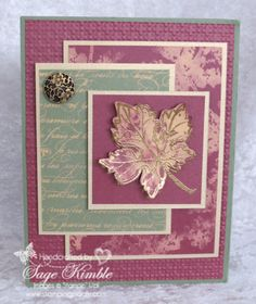 This handmade card is perfect for a fall birthday or a Thanksgiving Card. It is the stepped-up version for the October Tutorials, and includes instructions for the Stamping With Bleach Technique. http://madstampers.com