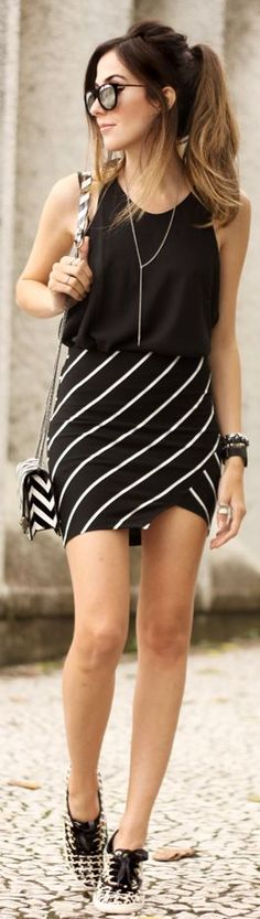 Black And White Mix Prints Fall Inspo by Fashion Coolture
