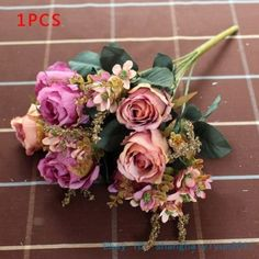 $9 - too expensive, but pretty 1-PCS-Fake-Artificial-Flower-Silk-Rose-Wedding-Home-Decoration-Gift-NO-VASE-F233