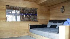Villa a Samedan – Sofa with wooden base Roncoroni Moretti