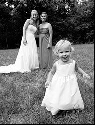 Wedding Photography bride dress train bridesmaid girl daughter