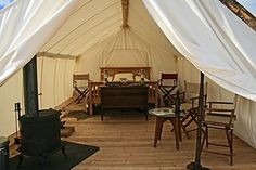Yellowstone Under Canvas, Montana    African inspired luxury safari-style camp located near the world famous Yellowstone National Park in Montana
