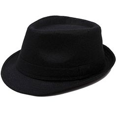 6cfe05a98f4 Men s Manhattan Fedora Hat Printed Letter Black Color Cap Simplicity  http   www.