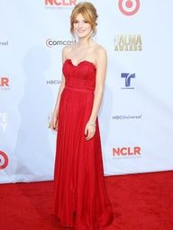 Bella Throne's red dress would be perfect for prom!