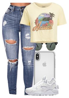 """Untitled #5577"" by rihvnnas ❤ liked on Polyvore featuring Ray-Ban, Speck, Ralph Lauren and NIKE"