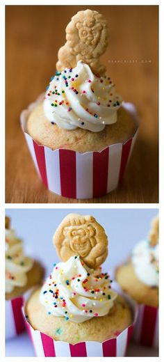Circus Animal Cookie Cupcakes | dearcrissy.com