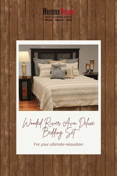 Western Bedrooms, Western Bedding, Bed Cover Sets, Bed Covers, Wood River, Jute Fabric, Western Decor, Rustic Elegance, Bedding Collections