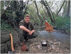 Ray Mears cooking Salmon