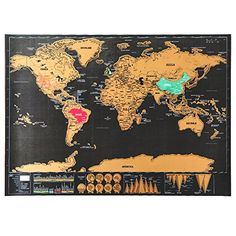 20 best scratch map images on pinterest cards scratch off and yoluke scratch off map europe world travel deluxe edition vintage decorative poster creative birthday gift toy gumiabroncs Gallery