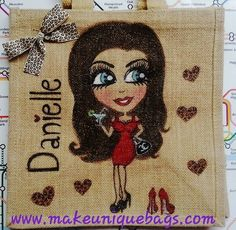 Design your own hand-painted personalised jute, cotton, canvas ...
