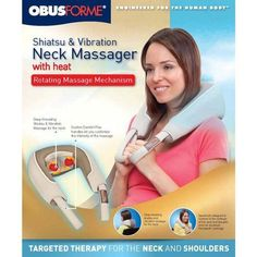 New at Ease Living! The Shiatsu and Vibration Neck Massager with Heat from ObusForme. Take your massage wherever you need it.