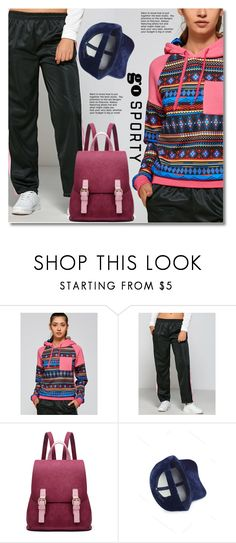 """go sporty!"" by svijetlana ❤ liked on Polyvore featuring sportstyle, polyvoreeditorial and zaful"