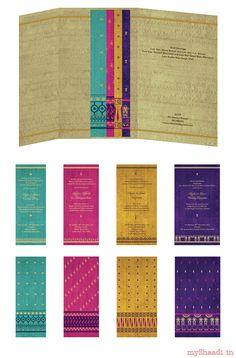 Indian Wedding Cards & Samples  Myshaadi.in#India#Wedding Card#Marriage Invitation