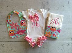 Hey, I found this really awesome Etsy listing at https://www.etsy.com/listing/202933567/personalized-baby-girl-onesie-bib-and