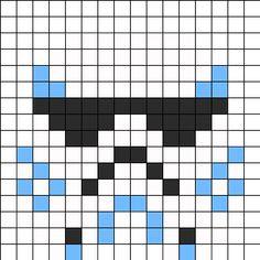 Star Wars Stormtrooper Perler Bead Pattern / Bead Sprite