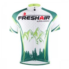 531866bdc Forest Fresh Air Green Short Sleeve Cycling Jersey For Mens image 1 Team Cycling  Jerseys