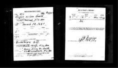 World War 1 draft card