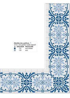 ru / Fotoğraf # 27 - A - giasemi Cross Stitch Borders, Cross Stitch Designs, Cross Stitching, Cross Stitch Embroidery, Embroidery Patterns, Cross Stitch Patterns, Cross Stitch Cushion, Gilet Crochet, Le Point