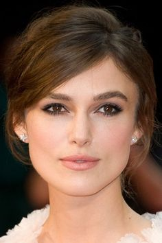 Keira Knightley, updo style options for long bob with long bangs