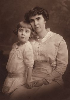 +~+~ Antique Photograph ~+~+  Mother and daughter