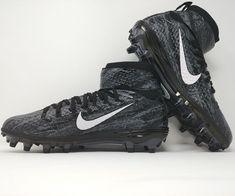 newest cb00a 47fdb Nike Force Lunarbeast Elite Ground Quake TD Football Cleats Black Smoke Size  11