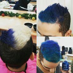 Blue hair color dynamics affinage