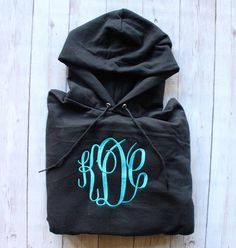 MONOGRAMMED HOODED SWEATSHIRT- OVERSIZED MONOGRAM Middle School Outfits, Hooded Sweatshirts, Hoodies, Embroidery Monogram, Shirts For Teens, Embroidery Fashion, Vinyl Designs, Sweater Weather, Preppy