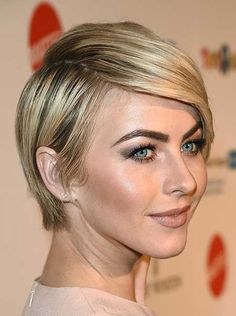 Short and Sleek Haircut with Side Swept Hair