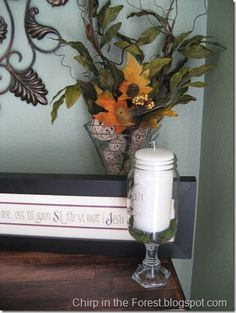 Mason jar hurricanes- love this!! On my to do list!!